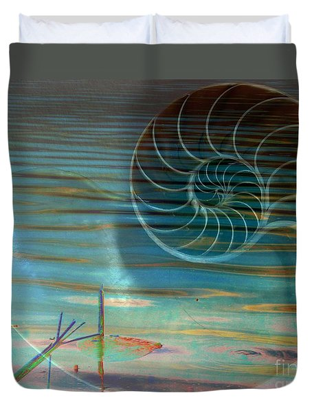 Duvet Cover featuring the photograph Conch by Irma BACKELANT GALLERIES