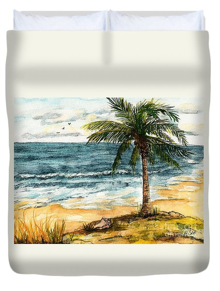 Conch Shell In The Shade Duvet Cover
