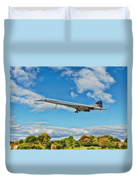 Concorde On Finals Duvet Cover