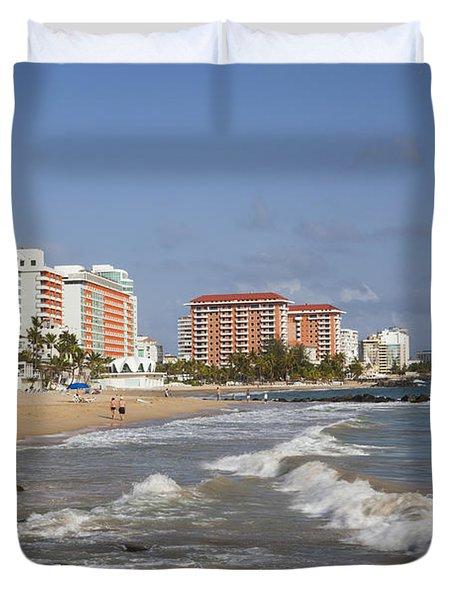 Condado Beach San Juan Puerto Rico Duvet Cover