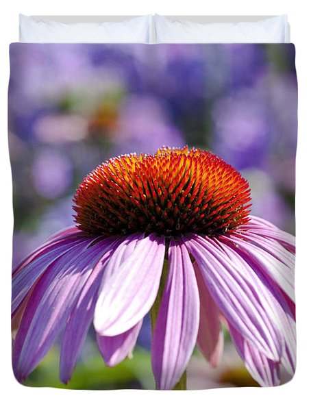 Duvet Cover featuring the photograph Coneflower by Lana Enderle