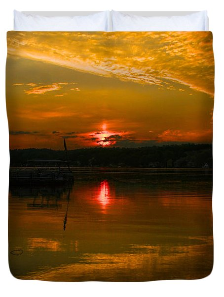 Conesus Sunrise Duvet Cover by Richard Engelbrecht