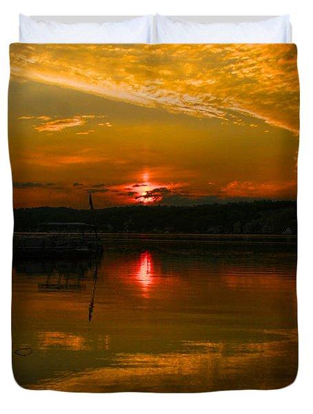 Conesus Sunrise Duvet Cover