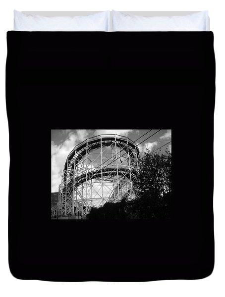 Coney Island Roller Coaster Duvet Cover