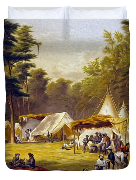 Confederate Camp Duvet Cover
