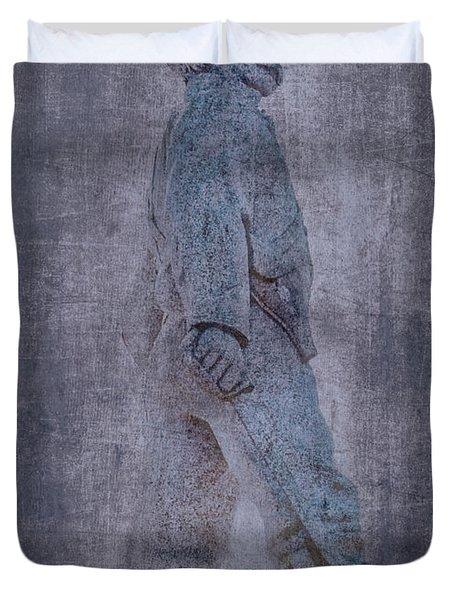 Soldier Statue Vii Alabama State Capitol Duvet Cover by Lesa Fine