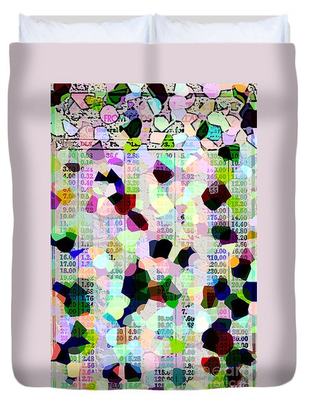 Duvet Cover featuring the photograph Confetti Table by Ecinja Art Works