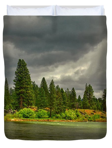 Duvet Cover featuring the photograph Confluence by Sam Rosen