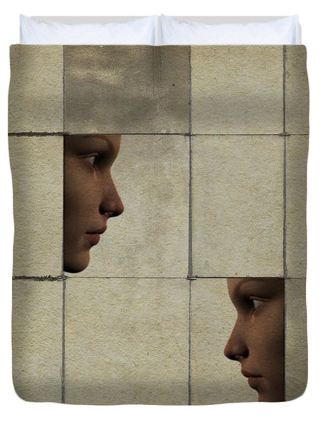 Confrontation Duvet Cover by David Ridley