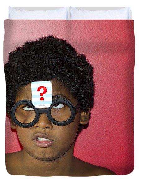 Confused Boy Duvet Cover