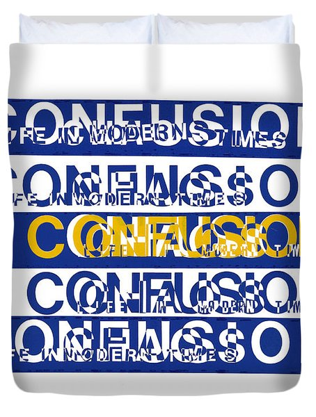Confusion Duvet Cover by Agustin Goba
