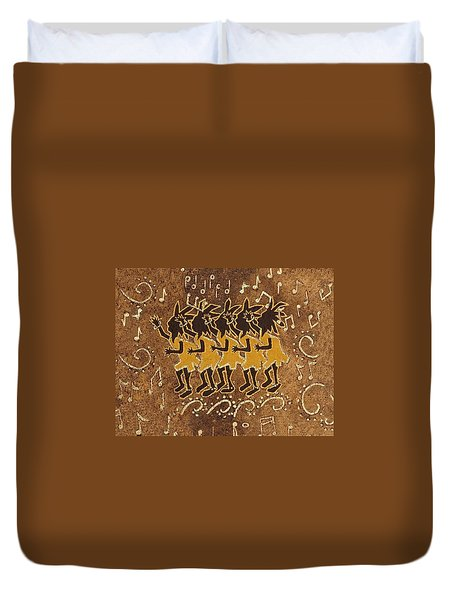 Conga Line Duvet Cover by Katherine Young-Beck