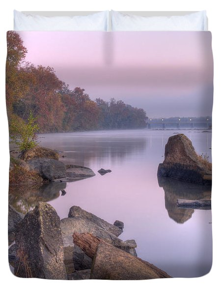Congaree River At Dawn-1 Duvet Cover