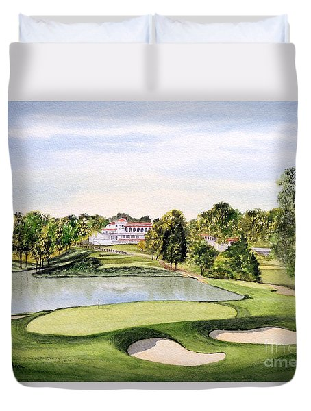 Congressional Golf Course 10th Hole Duvet Cover by Bill Holkham