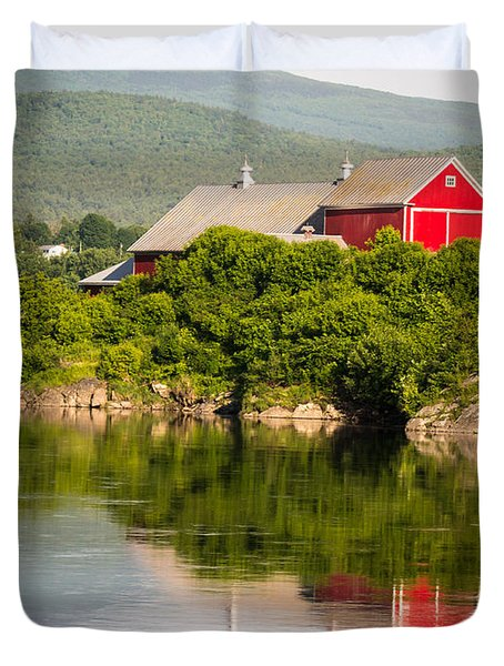 Connecticut River Farm Duvet Cover