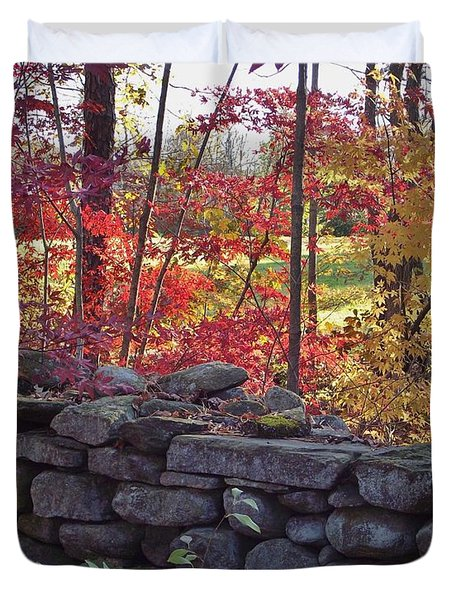 Connecticut Stone Walls Duvet Cover