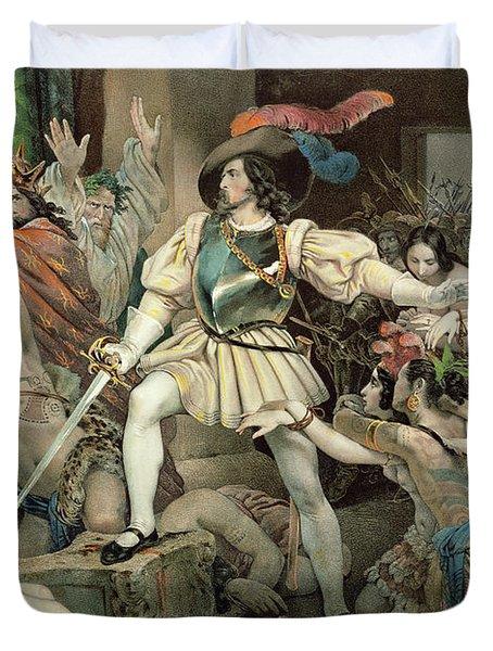 Conquest Of Mexico Hernando Cortes Duvet Cover