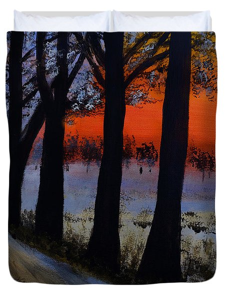 Conrad Road Sunrise Duvet Cover by Dick Bourgault