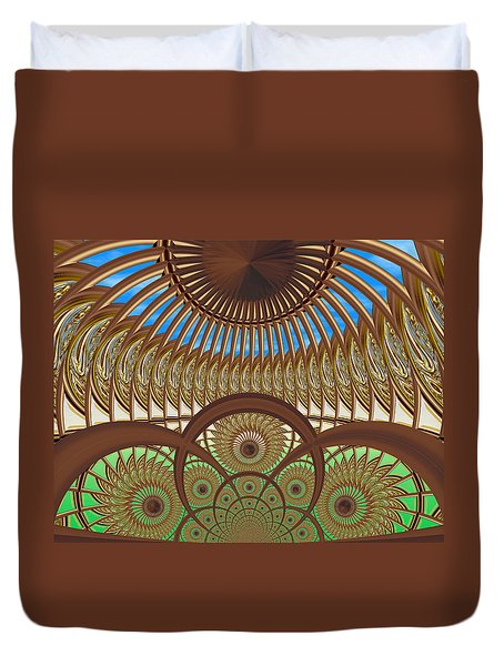 Conservatory - Earth And Sky Duvet Cover