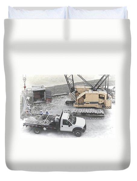 Construction Site Duvet Cover by Rudy Umans