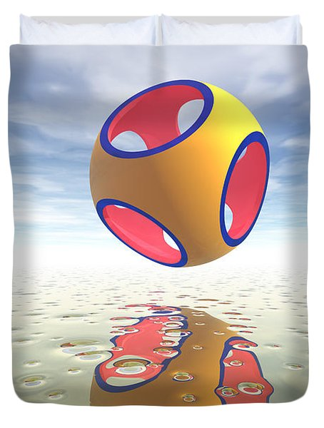 Constructive Solid Geometry Csg Duvet Cover by Carol and Mike Werner