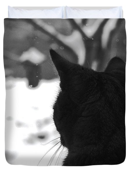 Contemplating Winter Duvet Cover