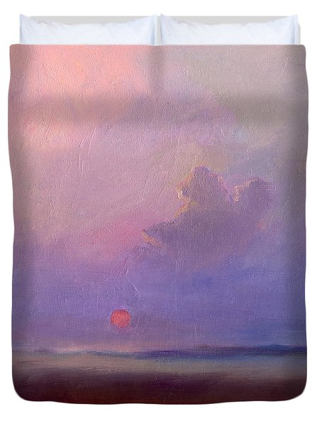 Contemplation At Sunset Duvet Cover