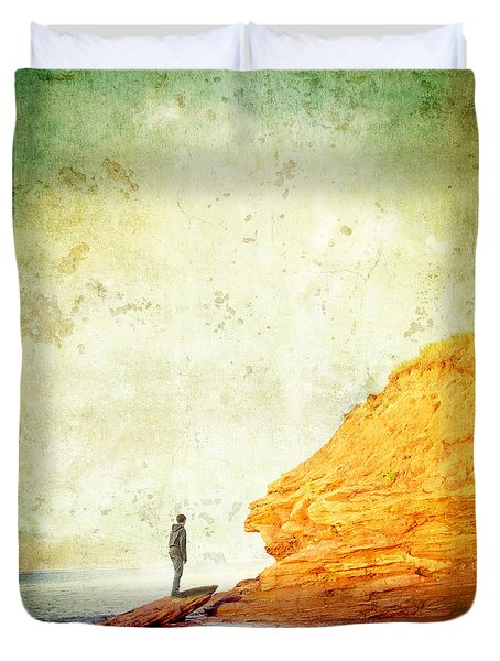 Contemplation Point Duvet Cover by Edward Fielding