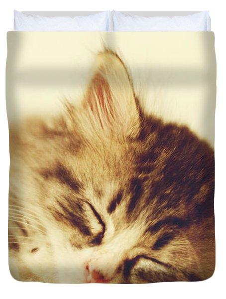 Content Kitty Duvet Cover