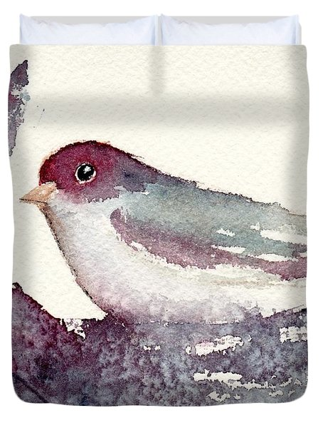 Duvet Cover featuring the painting Contented by Anne Duke