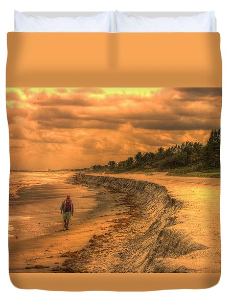 Duvet Cover featuring the photograph Soul Search by Dennis Baswell