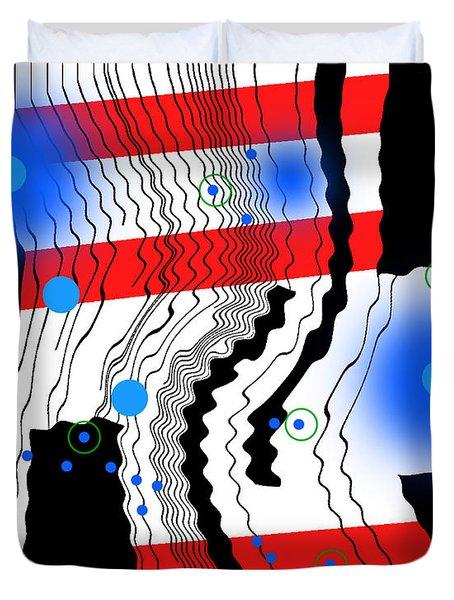 Contrapuctuous Rhythm Duvet Cover