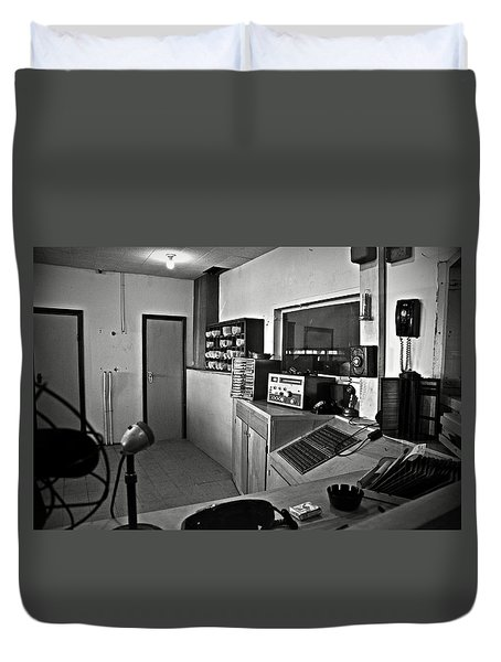 Control Room In Alcatraz Prison Duvet Cover