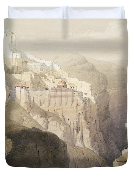 Convent Of St. Saba, April 4th 1839 Duvet Cover
