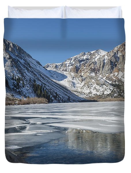 Convict Lake Morning Duvet Cover by Sandra Bronstein