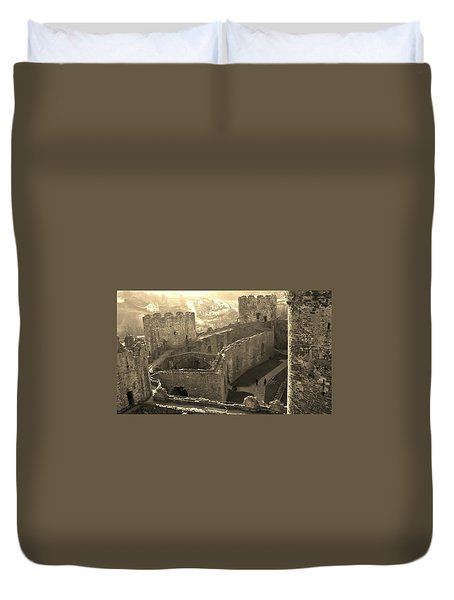 Conwy Castle Duvet Cover by Richard Brookes