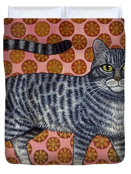 Cookie Cat Duvet Cover by Linda Mears