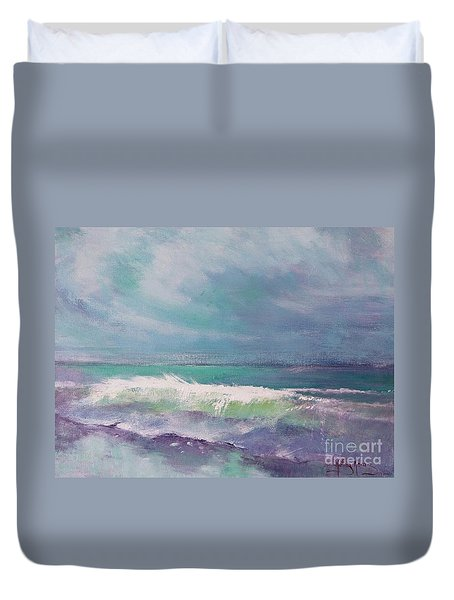 Cool Change Duvet Cover by Kathy  Karas
