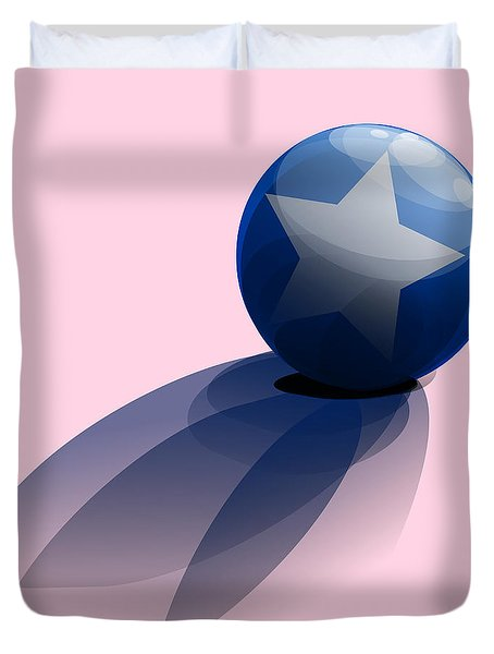 Blue Ball Decorated With Star Duvet Cover