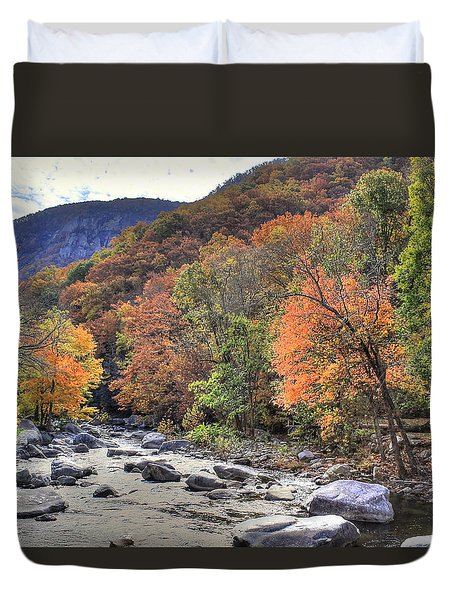 Cool Mountain Stream Duvet Cover