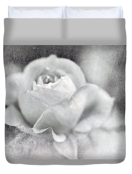Duvet Cover featuring the photograph Cool Rose by Annie Snel