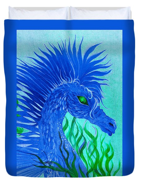 Cool Sea Horse Duvet Cover by Adria Trail