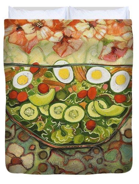 Cool Summer Salad Duvet Cover by Jen Norton