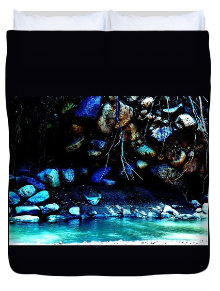 Duvet Cover featuring the photograph Coal Creek Dixie National Forest Utah by Deborah Moen