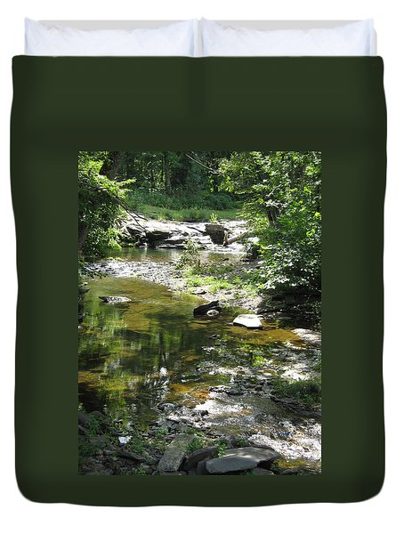Duvet Cover featuring the photograph Cool Waters by Ellen Levinson