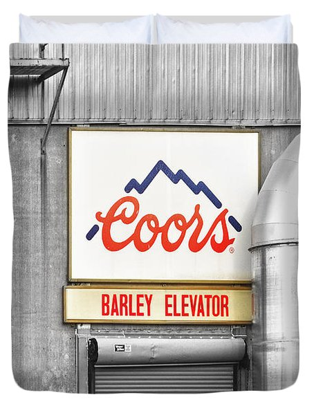 Coors Barley Elevator Bw Color Duvet Cover by James BO  Insogna