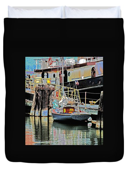 Coos Bay Harbor Duvet Cover