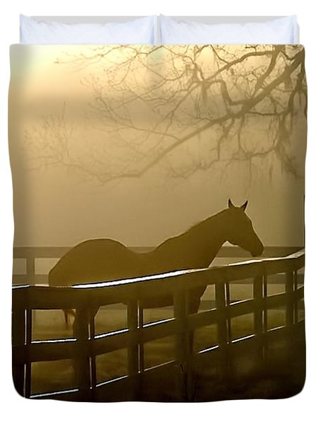 Coosaw Early Morning Mist Duvet Cover