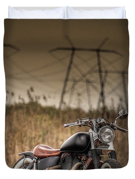 Copper Chopper Duvet Cover by Bradley R Youngberg