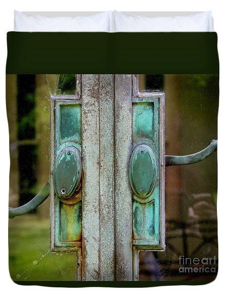 Copper Doorknobs Duvet Cover